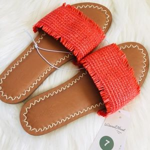 Universal Thread NWT Woven Slip On Slide Sandals
